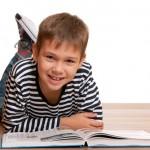 Boy reading