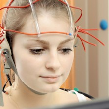 Girl learning about neurofeedback
