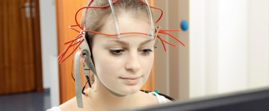 Girl learning about neurofeedback