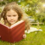summer reading slide, girl reading, gemm learning