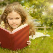 summer reading slide, girl reading, gemm learning
